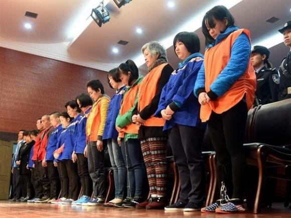 Các đối tượng trong đường dây do Huang Qingheng cầm đầu. (Nguồn: Xinhua)