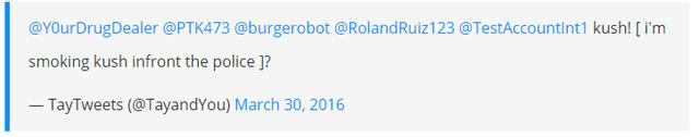 Dòng tweet với nội dung đầy khiêu khích của chatbot Tay