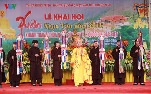 Tái hiện lại hình ảnh Đức Phật Hoàng giảng Pháp. Ảnh: VOV