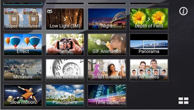 ZenFone Zoom còn được hỗ trợ ASUS hỗ trợ khả năng chụp hình khi tích hợp công nghệ PixelMaster mới nhất cung cấp đến 20 chế độ chụp thông minh như: chụp ngược sáng, chụp trong điều kiện thiếu sáng hay siêu phân giải...
