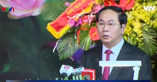 Chủ tịch nước phát biểu tại buổi lễ