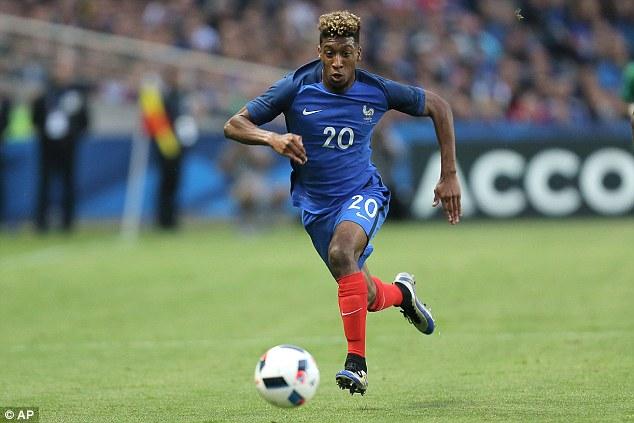 Coman được tin tưởng khá thường xuyên trong màu áo tuyển Pháp