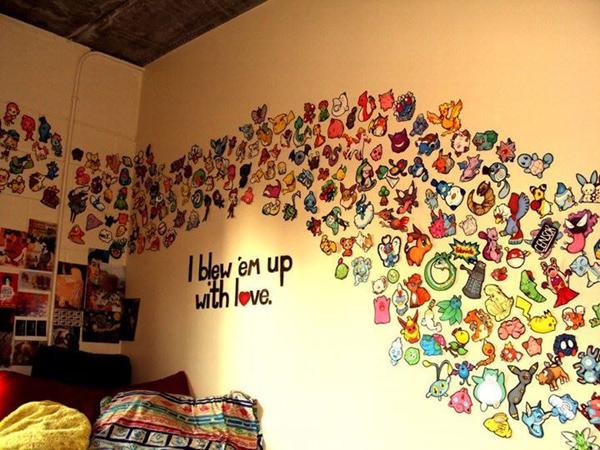 Tường phòng tràn ngập đội quân Pokémon
