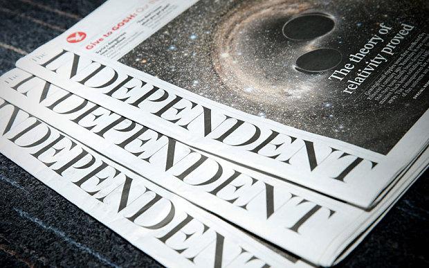 Cuối tháng 3 tới, The Independent sẽ dừng xuất bản ấn bản báo in