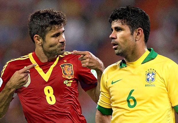 Diego Costa sinh ra tại Brazil và có quốc tịch Tây Ban Nha khi thi đấu cho Atletico Madrid