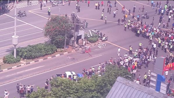 Cảnh sát Indonesia phong tỏa hiện trường vụ nổ