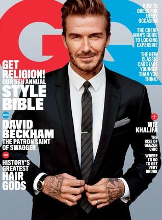 David Beckham trên trang bìa của GQ.