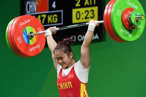 VĐV Deng Wei (Trung Quốc) giành HCV cử tạ hạng cân 63 kg nữ