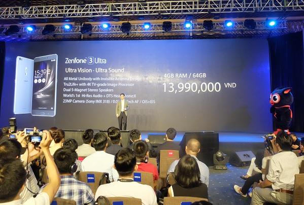 ZenFone 3 Ultra có mức giá bán 13.990.000 VNĐ