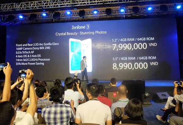 ZenFone 3 sẽ được bán với 2 phiên bản 5.2 inch và 5.5 inch