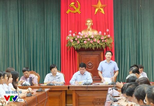 Ông Trần Anh Tuấn, Phó Bí thư thường trực Thành Đoàn phát biểu tại cuộc hóp báo