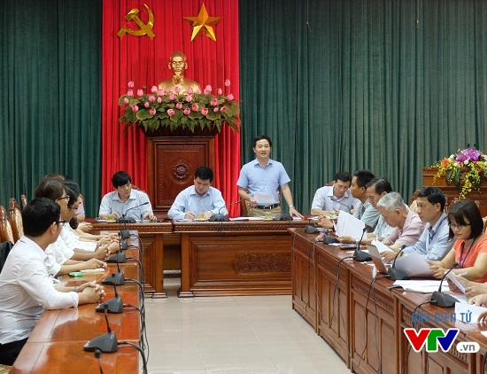 Ông Trần Anh Tuấn - Phó Bí thư thường trực Thành Đoàn Hà Nội phát biểu.