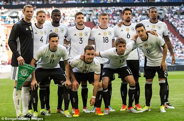 Đội hình ra sân của ĐT Đức
