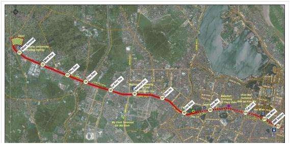Các ga của tuyến đường sắt đô thị Nhổn – Ga Hà Nội