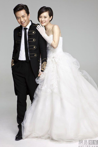 Tôn Lệ và Đặng Siêu trong bộ ảnh cưới.