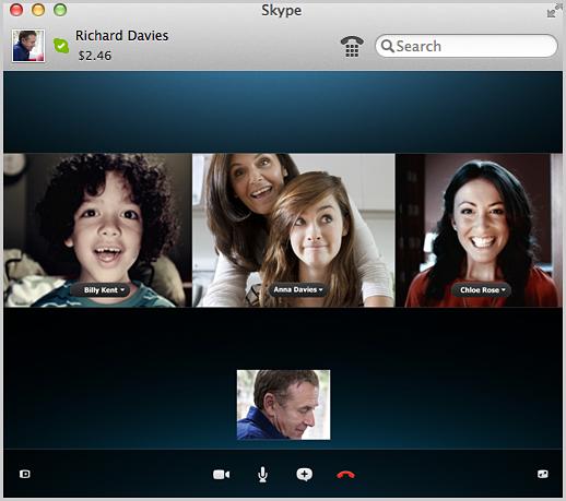 Tính năng gọi video nhóm mới được tích hợp trên Skype. (Ảnh: Skype)