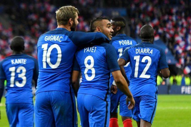 ĐT Pháp được dự đoán sẽ sớm giành vé đi tiếp vào vòng 1/8 EURO 2016. Ảnh: Getty