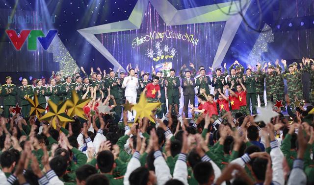Hình ảnh trong chương trình mừng sinh nhật 9 năm Chúng tôi là chiến sĩ (Ảnh: Chi Nguyễn)