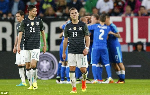 ĐT Đức thất bại 1-3 ngay trước thềm EURO 2016 trước ĐT Slovakia