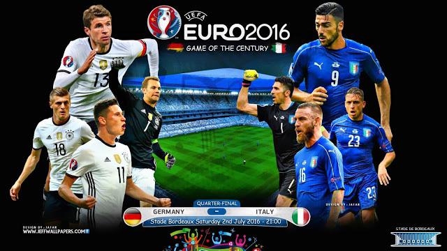 Trận tứ kết EURO 2016 giữa Đức - Italy được xem như một trận chung kết sớm.