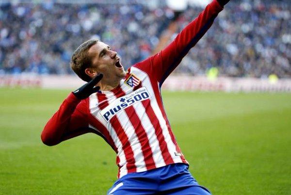 Antoine Griezmann trong màu áo của Atletico Madrid