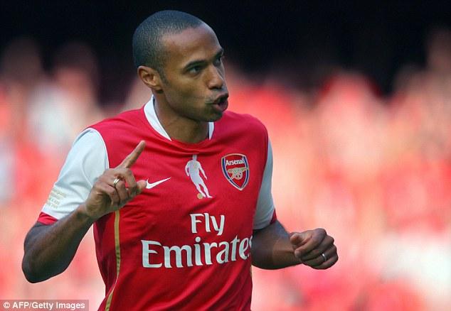 Huyền thoại của Highbury ngày nào - Thierry Henry nhiều khả năng bị Rooney vượt qua ở hai hạng mục.