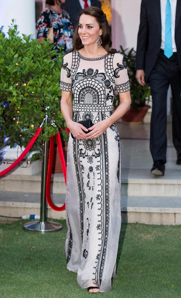 Công nương Anh với thiết kế váy đen trắng đẹp tinh tế mà sang trọng của Alice Temperly.