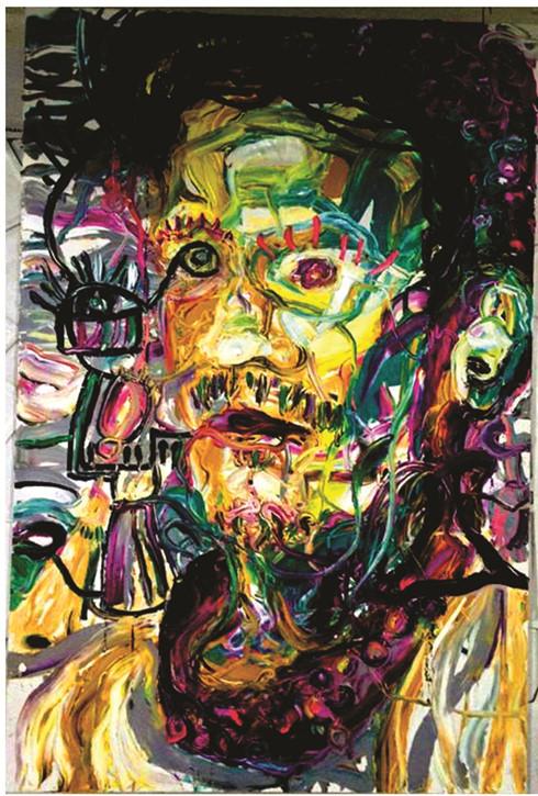 Một trong các tác phẩm của họa sĩ Nguyễn Quốc Dân.
