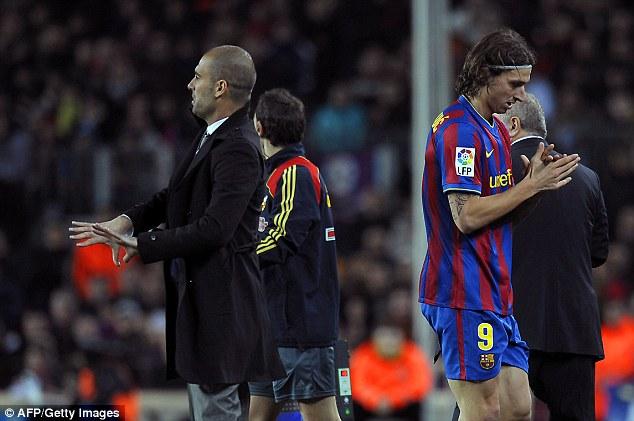 Dù không được trọng dụng ở Barca nhưng Ibra cũng ăn ké được 1 danh hiệu La Liga.