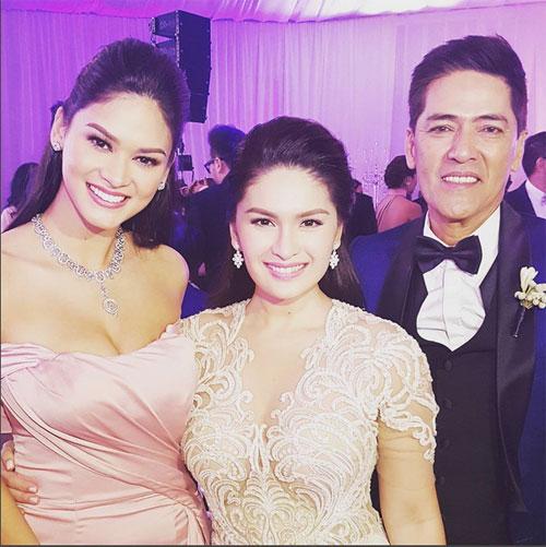 Cô làm phù dâu cho đám cưới của hai người bạn là nữ diễn viên Pauleen Luna và MC Vic Sotto.