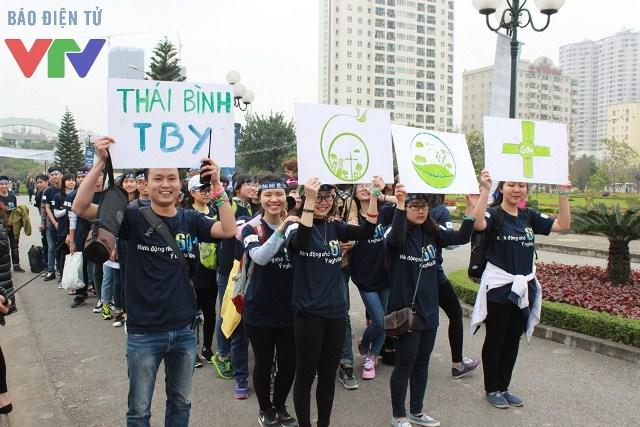 Chiến dịch Giờ Trái đất đã nhận được sự ủng hộ của đông đảo học sinh, sinh viên.