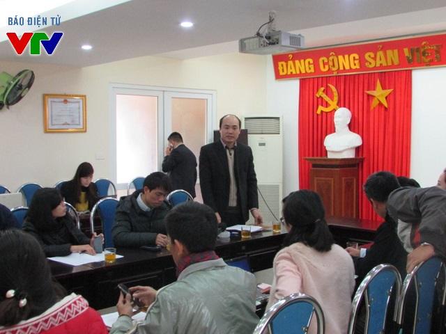 Ông Nguyễn Việt Phương - Phó GĐ Sở Giao thông Vận tải Hà Nội trong buổi họp báo về việc thực hiện cấp IDP cho người dân.