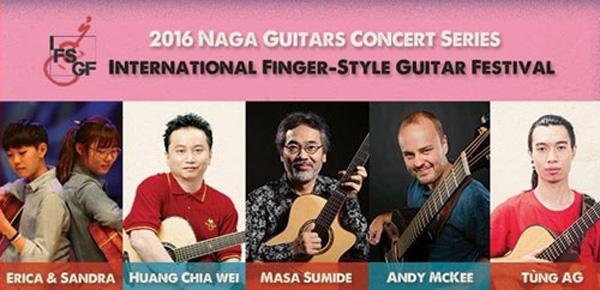 6 nghệ sĩ tham gia Liên hoan guitar Fingerstyle quốc tế 2016.