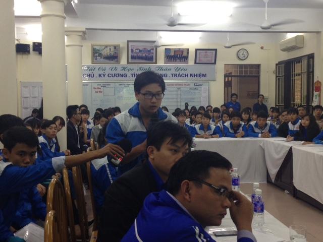 Các em học sinh đến từ 62 tỉnh thành cùng đưa ra những ý kiến riêng về việc tại sao môn lịch sử không được yêu thích