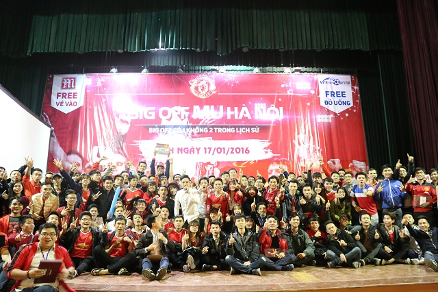 Rất đông fan hâm mộ đã đến buổi big offline MU Hà Nội trong ngày 17/1/2016