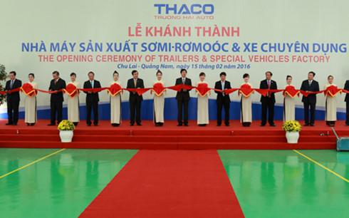 Lễ khánh thành nhà máy tại Quảng Nam