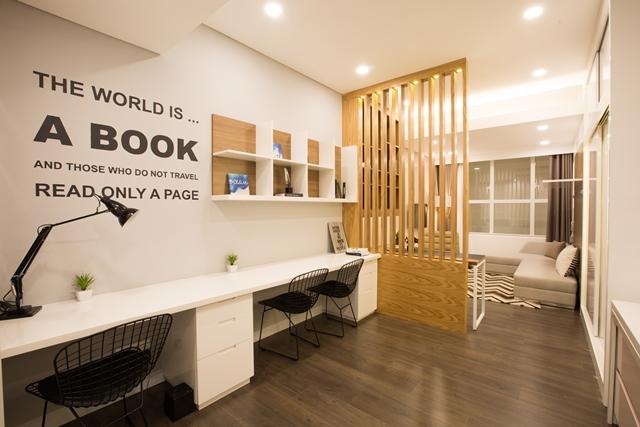 """Căn """"mini"""" (ở kết hợp làm văn phòng) - Office-tel mẫu The Sun Avenue"""