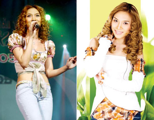 Năm 2006, nữ ca sĩ lại làm mới hình ảnh bằng kiểu tóc xoăn mì tôm từng làm mưa làm gió một thời. Cô vẫn trung thành với quần jeans và táo bạo khi mix với những chiếc áo điệu đà.