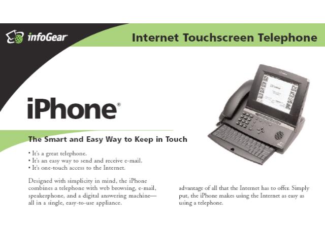 Chiếc iPhone đầu tiên được phát hành bởi InfoGear vào năm 1998