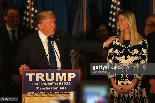 Ứng viên Tổng thống Donald Trump và con gái Ivanka Trump.