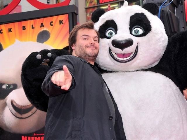 Jack Black tại một sự kiện quảng bá Kungfu Panda 3. Ảnh: NBC Universal