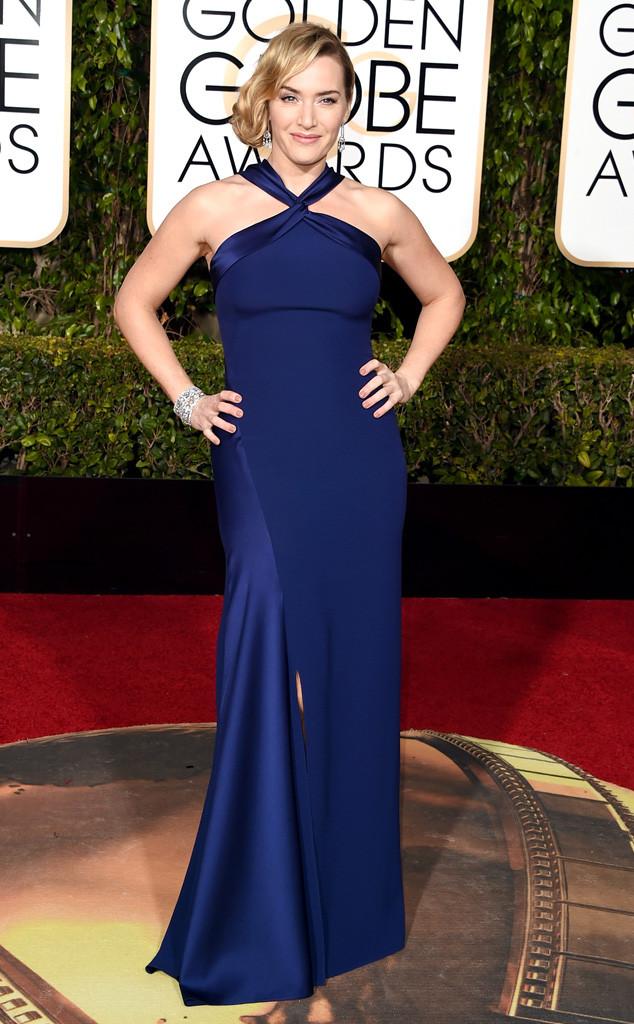 Kate Winslet sang trọng với bộ đầm được thiết kế bởi Ralph Laurent.