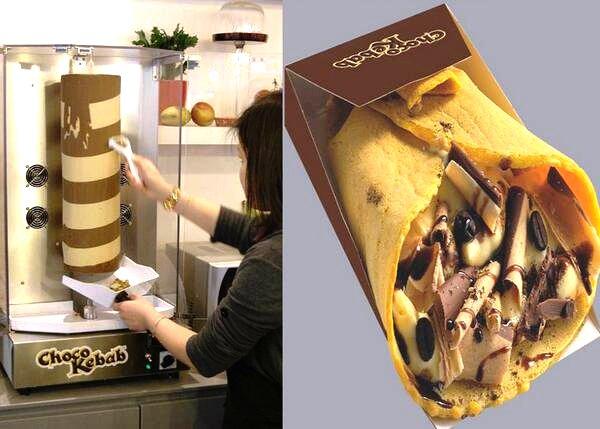Món bánh kẹp chocolate biến tấu từ bánh kẹp thịt cừu nướng của Thổ Nhĩ Kỳ. Ảnh: Twitter