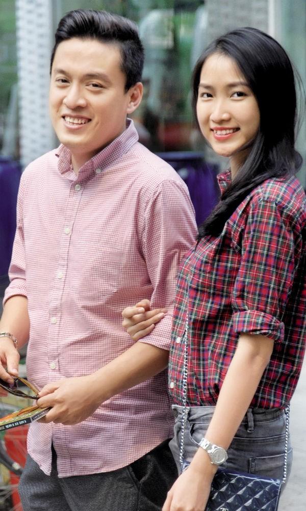 Lam Trường và bà xã Yến Phương.