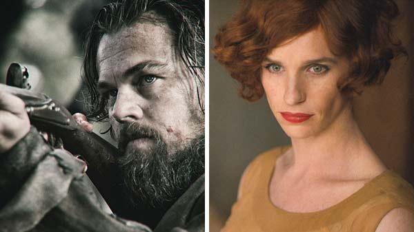Vai diễn của Leonardo DiCaprio trong The Revenant và vai diễn của Eddie Redmayne trong The Danish Girl đều được đánh giá cao.