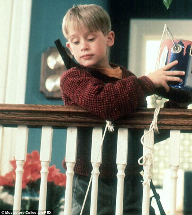 Macaulay trong một cảnh phim của bộ phim Ở nhà một mình - bộ phim để đời của anh. (Ảnh: Daily Mail)
