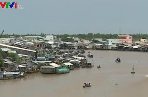 Độ mặn đo được trên sông Hậu và sông Cái Răng trong những ngày qua đã đạt 1o/oo
