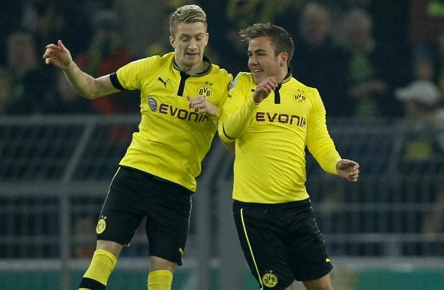 Gotze đã chính thức trở lại mái nhà xưa Dortmund. Ảnh: AP