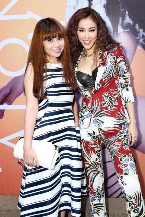 Maya và nhạc sĩ Lưu Thiên Hương trong buổi họp báo ra mắt album