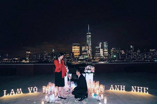 Mai Ngọc được bạn trai cầu hôn tại Mỹ.
